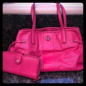 Pink Coach Purse w/ Wallet